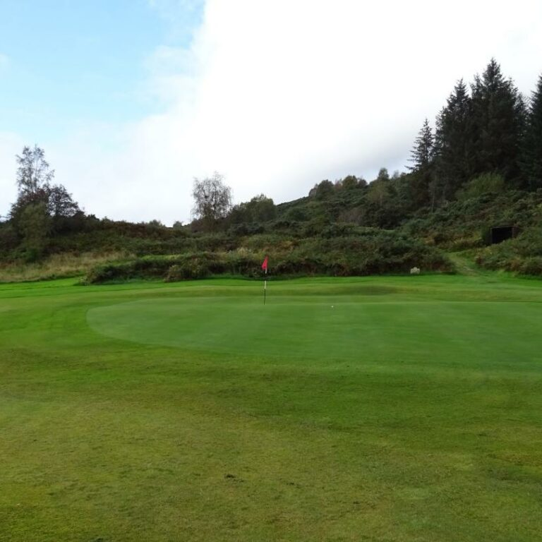 The 3 tiered 9th green