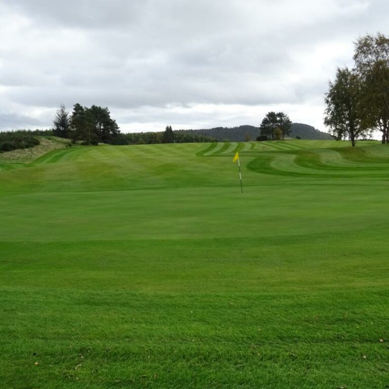 Looking back up the 16th hole